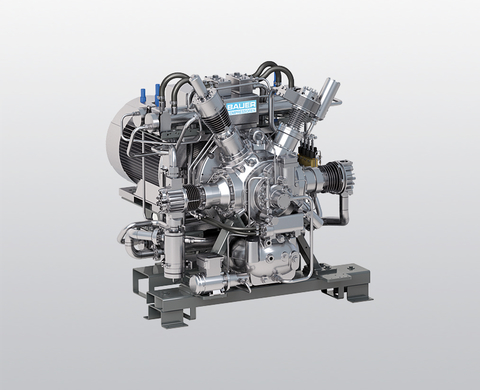 BAUER GIB 26 water-cooled, high-pressure booster