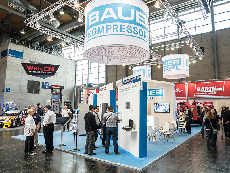 The BAUER stand at the Interschutz trade show