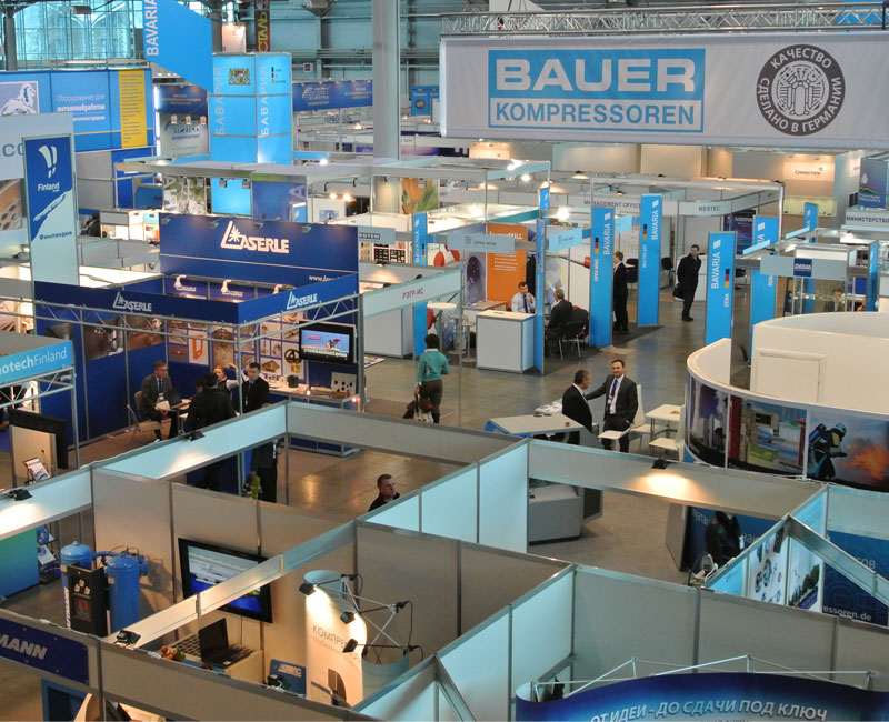 BAUER KOMPRESSOREN at the Lenexpo in St. Petersburg
