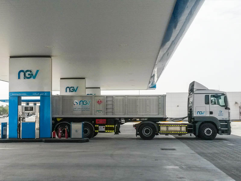 10 CNG trailers of this kind can refuel simultaneously.